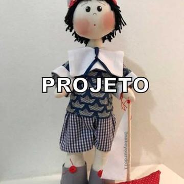 Projeto de Papel Boneco Marinheiro