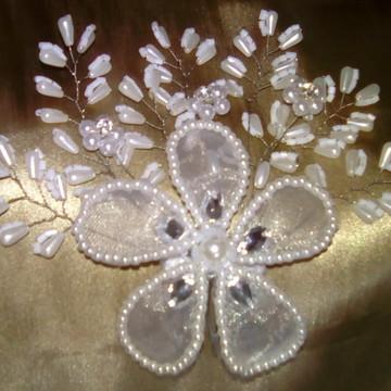 Tiara Pente para Arranjo e Penteado de Cabelo Flores Noiva