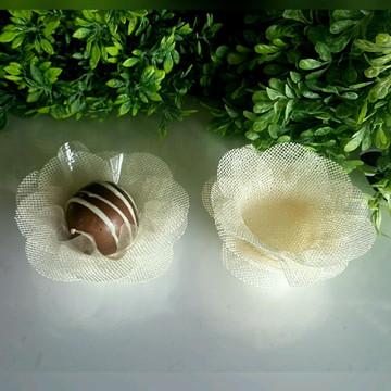 50 FORMINHAS p doce, casamento Marfim F011