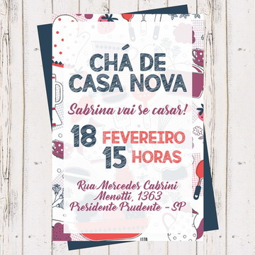 Convite Chá Panela, Cozinha, Casa Nova 4