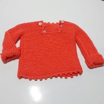 casaquinho de bebe trico