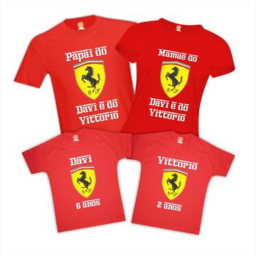 Kit Camiseta Festa Ferrari