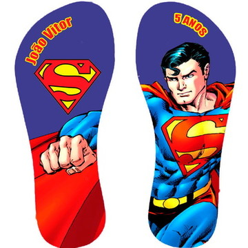 Chinelo Personalizado Super Homem