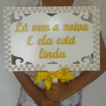 Placa para noiva