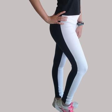 1faa500ad4 Calça legging branca e preta em suplex