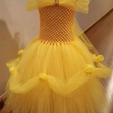 Fantasia Luxo Princesa Bela