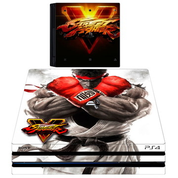 kit Skin adesivo ps4 pró street fighter 2 controles