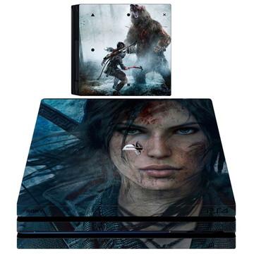 kit Skin adesivo ps4 pró Tomb Raider 2 controles