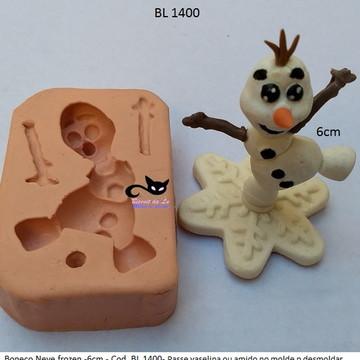 Molde de Silicone - Boneco de Neve Olaf Frozen (cod. BL1400)
