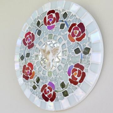Mandala Divino Espírito mosaico Rosas 20