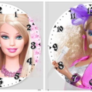 Relógio de parede Boneca barbie Disney retro vintage