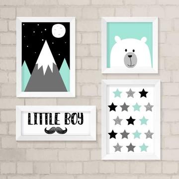 Kit Quadros Infantil- Little Boy Urso