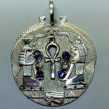 Mandala das deusas Ísis e Nephis em prata