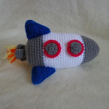 Foguete amigurumi - crochê