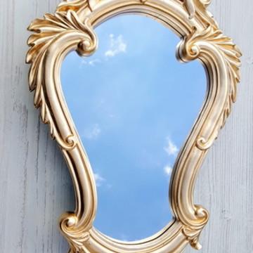 Espelho Vitoriano Dourado