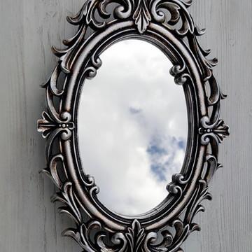 Espelho Antique Prata Velha