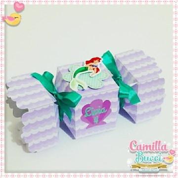 Caixa Bala Pequena Sereia Ariel