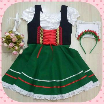 24faf716d73f3 Traje típico Alemão-Português-Italiano infantil