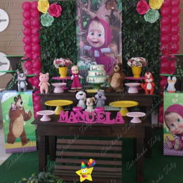 Locação decoração menina e urso