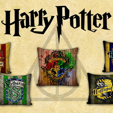 Kit Almofadas HP - Casas de Hogwarts