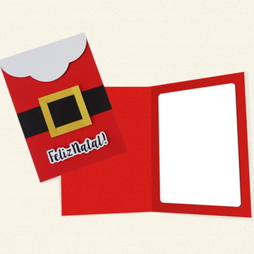Kit com 5 Mini Cartões de Natal