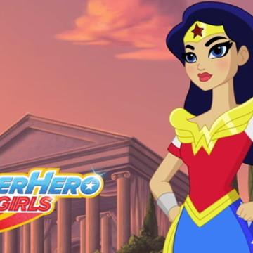Painel Festa Super Hero Girls 150x100M