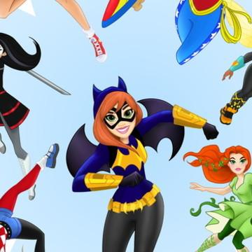 Painel Festa Super Hero Girls 200x100M