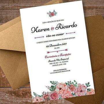 Convite de Casamento - Arte Digital