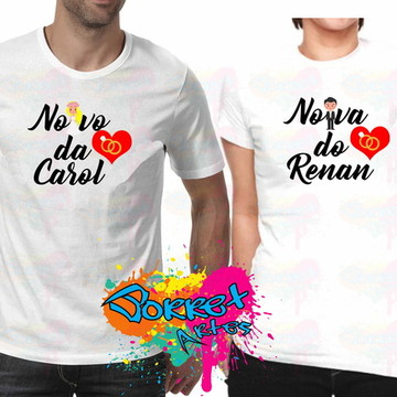 2 Camisas Personalizada Noivo e Noiva