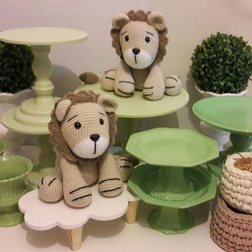 Kit Festa Leão Floresta Verde Chá de Bebê