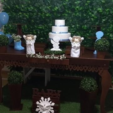 Locação decoração Batizado Menino
