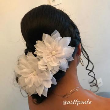 Acessório Noiva - Flor de Tecido