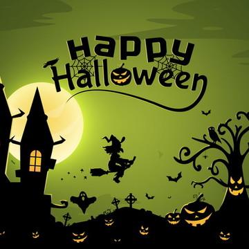 'Painel de festa halloween