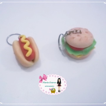 hamburguer e cachorro quente de biscuit