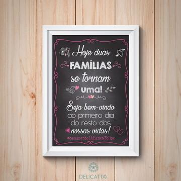 Chalkboard para casamento - IMPRESSO