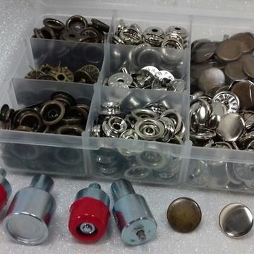 30 botões pressão n.80 + 1 matriz n.80 + 1 cx organizadora-