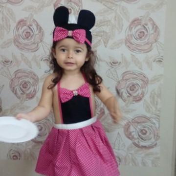 Fantasia Minnie confeiteira