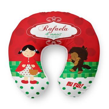 Almofada Pescoço Personalizada Chapeuzinho Vermelho