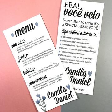 Kit Menu Casamento + Dicas