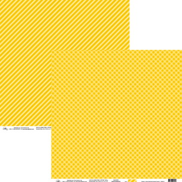 Papel Xadrez e Lista Diagonal Amarelo Dreamy