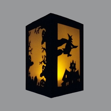 Lanterna de Mesa decorativa em Papel Halloween