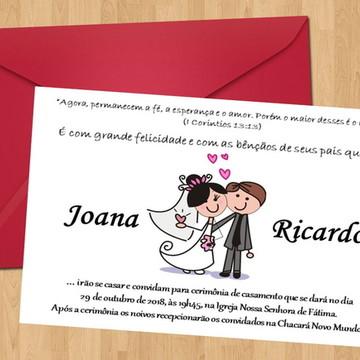 Convite De casamento colors