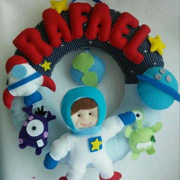 Kit enfeite Ursinho + Enfeite astronauta
