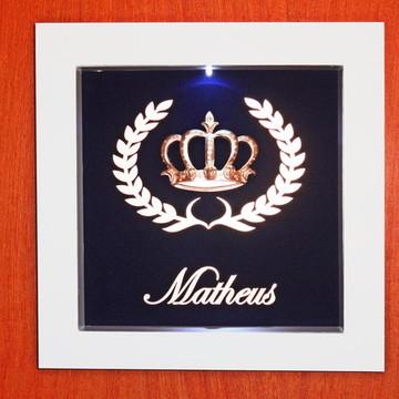 Porta Maternidade Coroa Menino