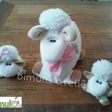 Família de ovelhas enfeite