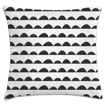 capa almofada montanhas preto e branco