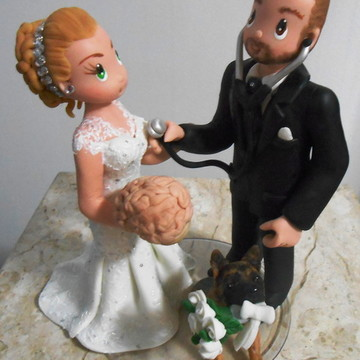 Topo de bolo psiquiatra e neurologista