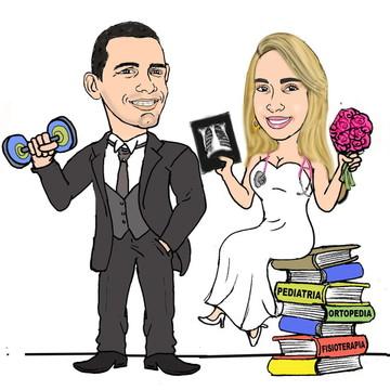 Caricatura para Convite de Casamento