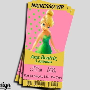 CONVITE DIGITAL FADA SININHO INGRESSO VIP