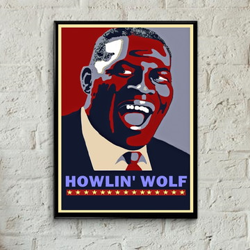 Quadro Howlin'Wolf pop art